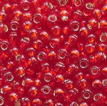 Toho 8/0 Seed Beads Silver Lined Ruby 25C - 10 grams